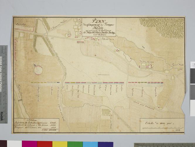 Map of encampment near Bettenhausen, 1729 (Bettenhausen, Hesse, Germany) 51?18?15?N 09?32?08?E