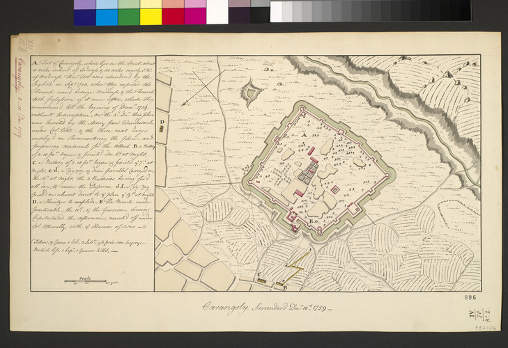 Plan of Carangoly, 1759 (Karunguli, Tamil Nadu, India) 12?33'00