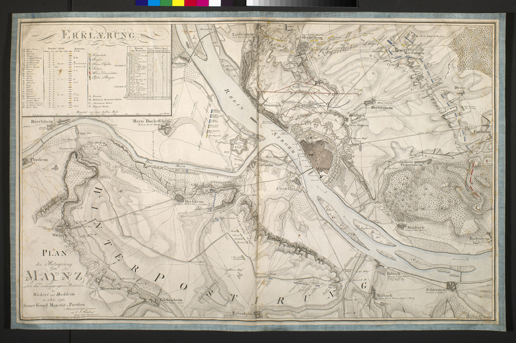Item: Map of the siege of Mainz, 1793 (Mainz, Rhineland-Palatinate, Germany) 49?59'03