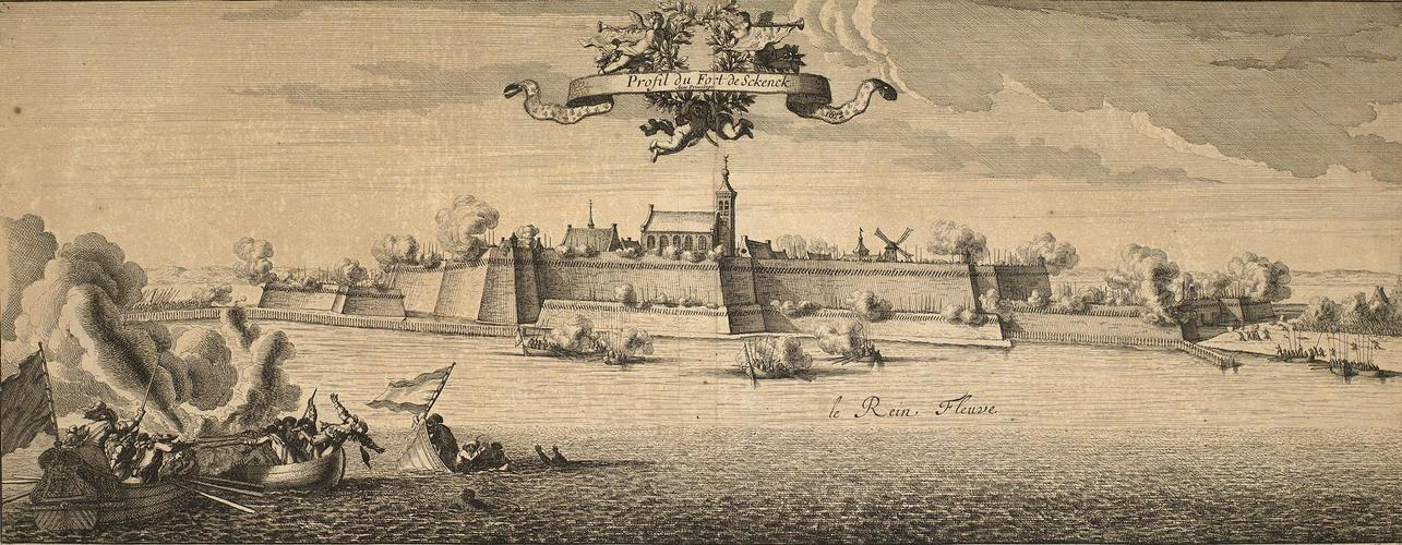 Map of Schenkenschanz, 1672 (Schenkenschanz, North Rhine-Westphalia, Germany) 51?50?09?N 06?06?37?E