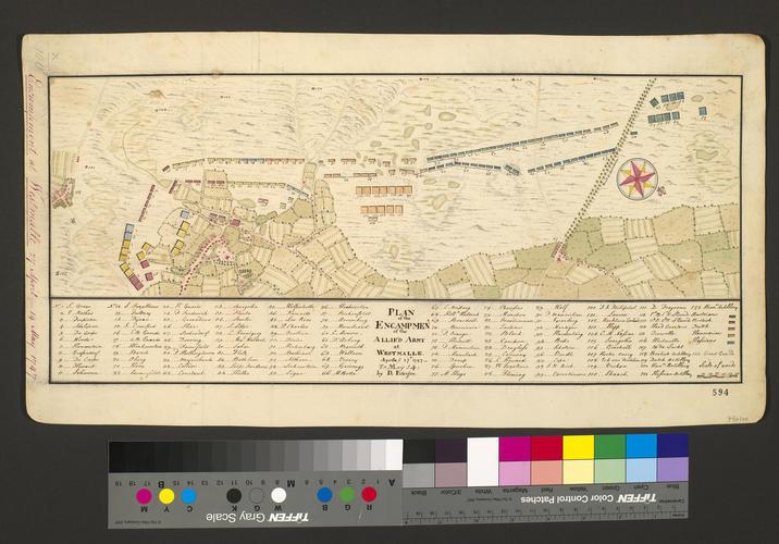 Map of encampment at Westmalle, 1747 (Westmalle, Flanders, Belgium) 51?17'51