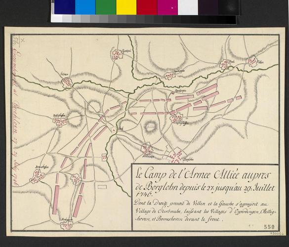Plan of encampment at Borgloon, 1746 (Borgloon, Flanders, Belgium) 50?48'18