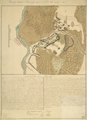 Map of the Battle of Kunersdorf, 1759 (Kunowice, Lubusz, Poland) 52?21'03