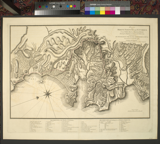 Map of Morne Fortune, 1796 (Morne Fortune, Castries, Saint Lucia) 13?59'00