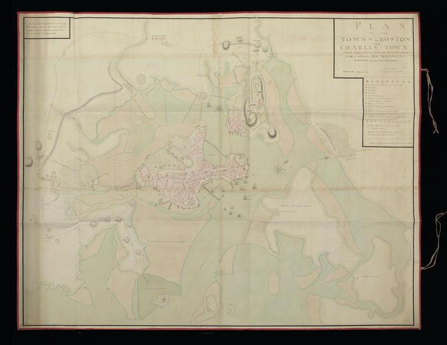 Plan of Boston and Charlestown, 1775 (Boston, Massachusetts, USA) 42?21'30