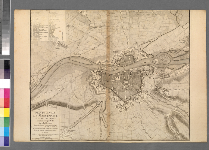 Map of Maastricht, 1748 (Maastricht, Limburg, Netherlands) 50?50'54