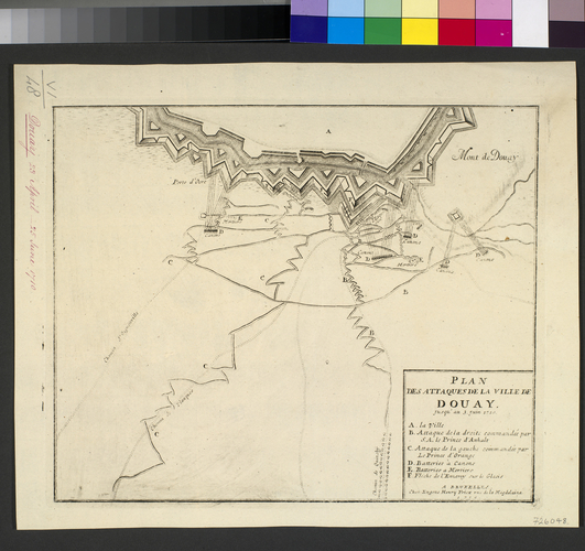Map of the siege of Douai, 1710 (Douai, Nord-Pas-de-Calais, France) 50?22'00