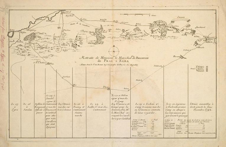 Map of Prague and Eger [Egra], 1742 (Prague, Czech Republic) 50?05'16
