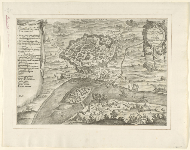 View of Piacenza, 1636 (Piacenza, Emilia-Romagna, Italy) 45?02'48