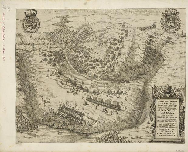 View of the Battle of Honnecourt-sur-Escaut, 1642 (Honnecourt-sur-Escaut [Chatelet], Nord-Pas-de-Calais, France) 50?02?00?N 03?12?00?E