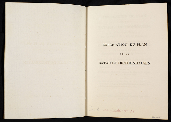 Master: Plan de la Bataille de Thonhausen. Item: Battle of Minden, 1759 (Minden, North Rhine-Westphalia, Germany) 52?17'00