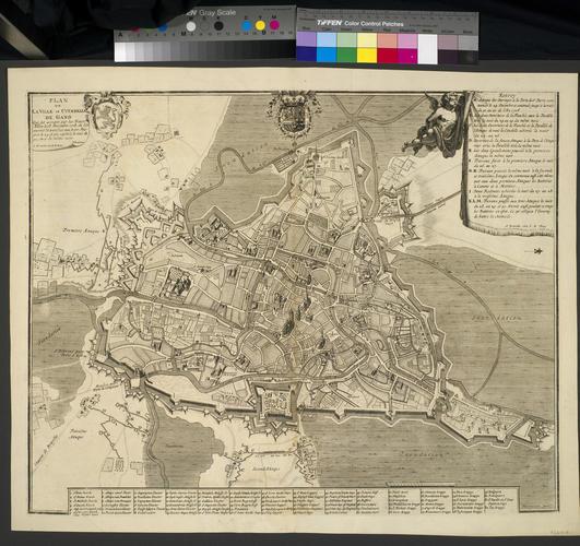 Map of Ghent, 1708 (Ghent, Flanders, Belgium) 51?03'00