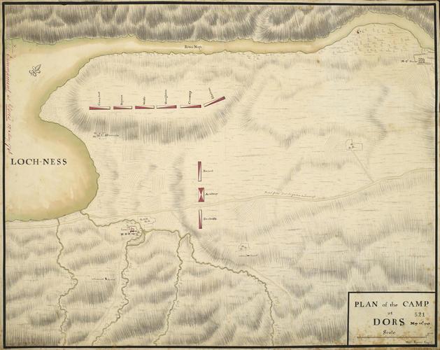 Plan of encampment at Dores, 1746 (Dores, Highland Region, Scotland, UK) 57?22'52