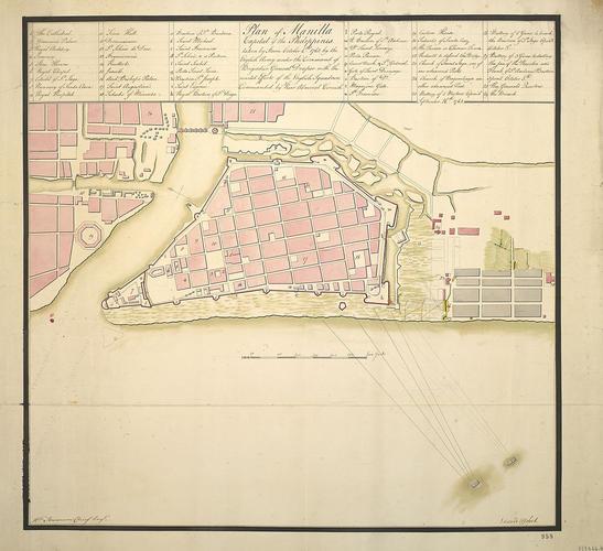 Item: Plan of Manila, 1762 (Manila, National Capital Region, Phillipines) 14?36'15