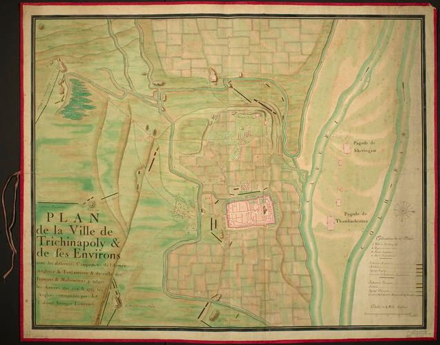 Map of Trichinopoly, 1755 (Tiruchir?ppalli, Tamil Nadu, India) 10?48'18