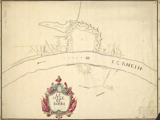 Map of the siege of Bonn, 1703 (Bonn, North Rhine-Westphalia, German) 50?44'03