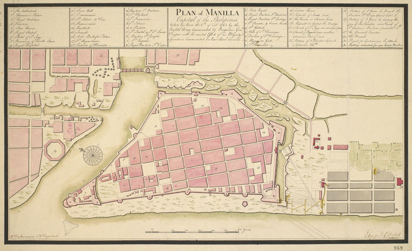 Plan of Manila, 1762 (Manila, National Capital Region, Phillipines) 14?36'15