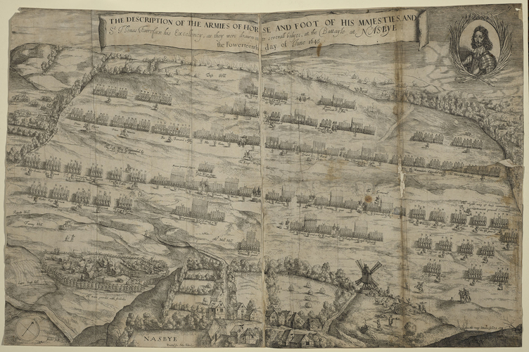 View of the order of battle at Naseby, 1645 (Naseby, Northamptonshire, England, UK) 52?23?39?N 00?59?21?W