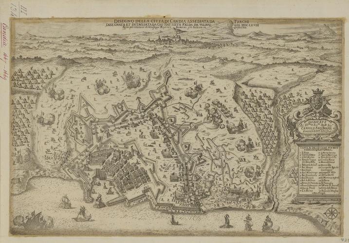 View of Candia 1668 (Heraklion [Candia, Irakleion], Crete, Greece) 35?19?40?N 25?08?36?E
