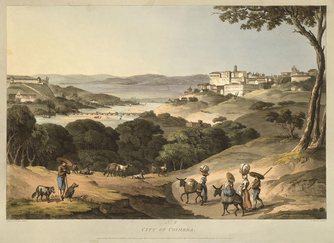 Master: Spain Twelve Views of the principal occurences of the Campaigns of 1810 and 1811 in Spain and Portugal: by Major T. S. t Clair, engraved by C. Turner, 1812-15. Item: View of Coimbra, c. 1811