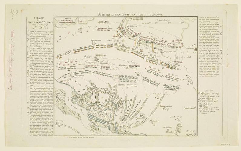 Item: Map of the Battle of Deutsch-Wagram, 1809 (Deutsch-Wagram, Lower Austria, Austria) 48?17'59