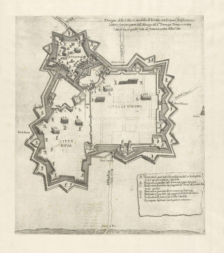 View of the siege of Turin, 1640 (Turin, Piedmont, Italy) 45?04'13