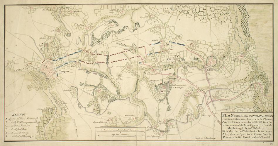 Map of Tongeren and Bilzen, 1703 (Tongeren, Flanders, Belgium) 50?46'49
