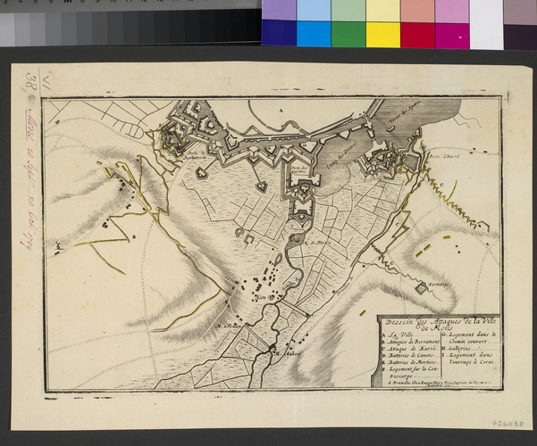 Map of the siege of Mons, 1709 (Mons, Walloon Region, Belgium) 50?27'14