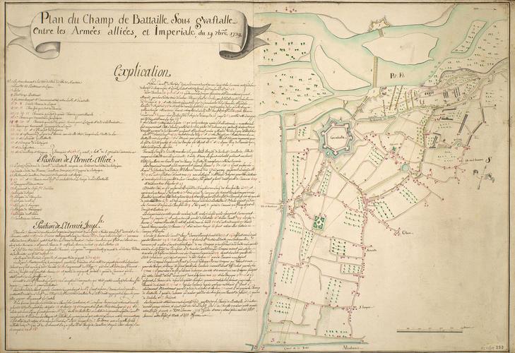 Map of the Battle of Guastalla, 1734 (Guastalla, Emilia-Romagna, Italy) 44?54?47?N 10?39?39?E