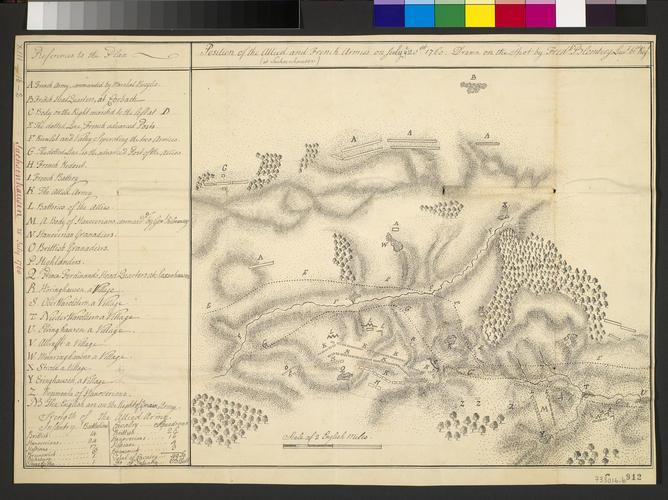 Item: Map of Sachsenhausen, 1760 (Sachsenhausen, Hesse, Germany) 51?14'36