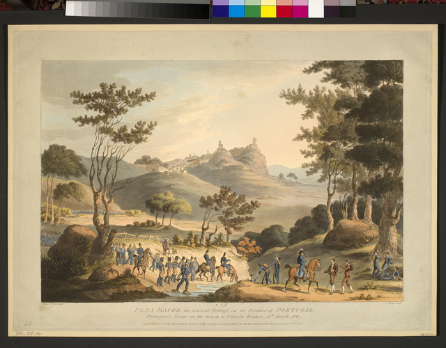 Master: Spain Twelve Views of the principal occurences of the Campaigns of 1810 and 1811 in Spain and Portugal: by Major T. S. t Clair, engraved by C. Turner, 1812-15. Item: View of Penamacor, 1811 (