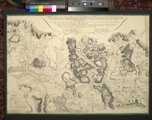 Item: Map of encampments at Homburg, 1762 (Homberg an der Ohm, Hesse, Germany) 50?44'00