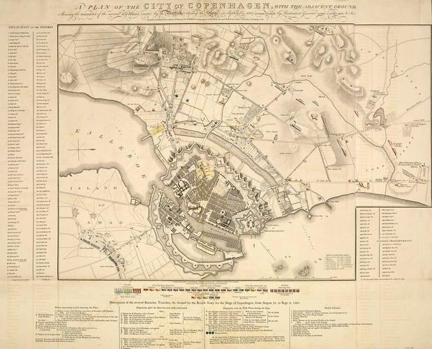 Map of the siege of Copenhagen, 1807 (Copenhagen, Capital Region, Denmark) 55?40'33