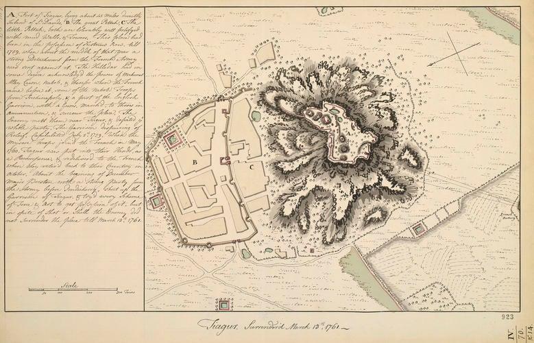 Map of Tiagur, 1761 (Thiy?gadurgam, Tamil N?du, India) 11?44'00