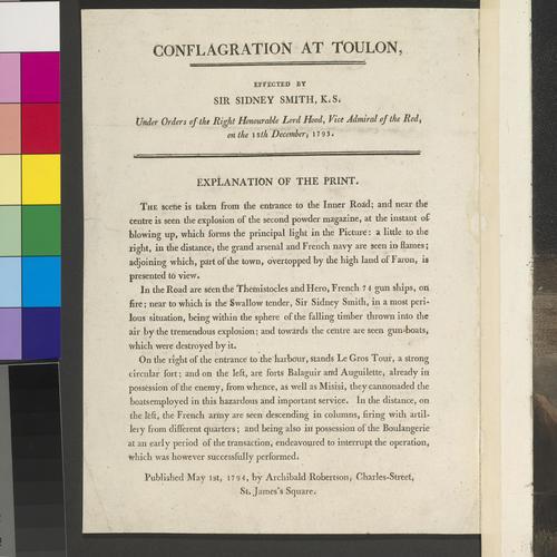 Master: CONFLAGRATION AT TOULON Item: Toulon, 1793 (Toulon, Provence-Alpes-Cote d?Azur) 43?07'00