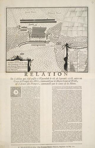 Map of Wijnendale, 1708 (Wijnendale, Flanders, Belgium) 51?05'32
