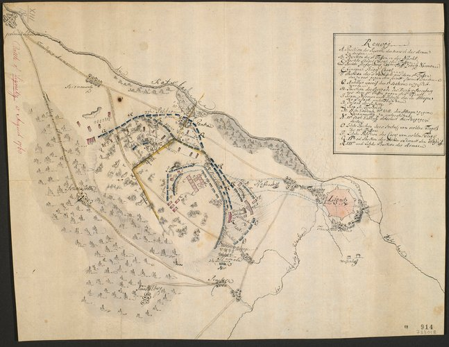 Map of the Battle of Liegnitz, 1760 (Legnica, Lower Silesian Voivodeship, Poland) 51?12'36