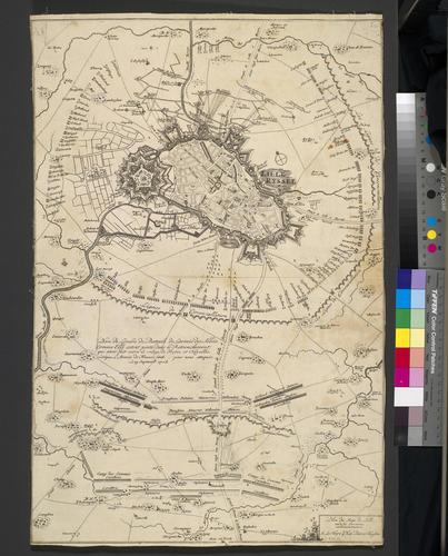 Map of the siege of Lille, 1708 (Lille, Nord-Pas-de-Calais, France) 50?37'58