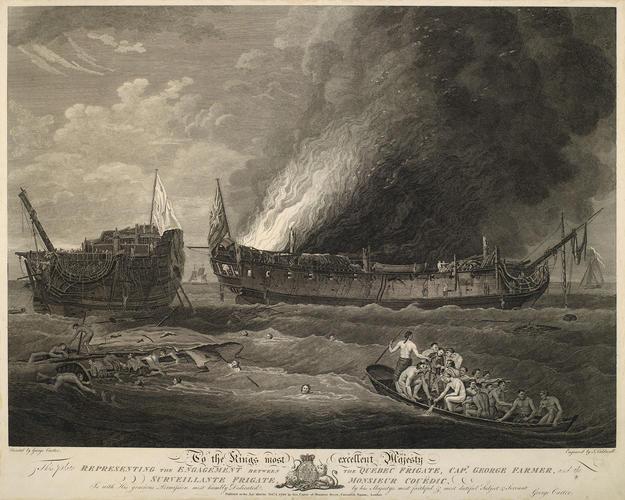 View of naval battle at Ushant, 1779 (Ushant, Brittany, France) 48?27'27