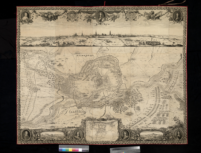 A view and map of the siege of Arras, 1654 (Arras, Nord-Pas-de-Calais, France) 50?17'34