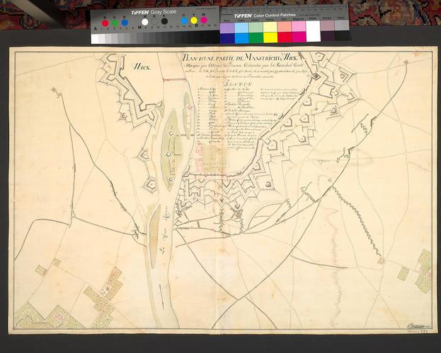 Plan of Maastricht, 1748 (Maastricht, Limburg, Netherlands) 50?50'54