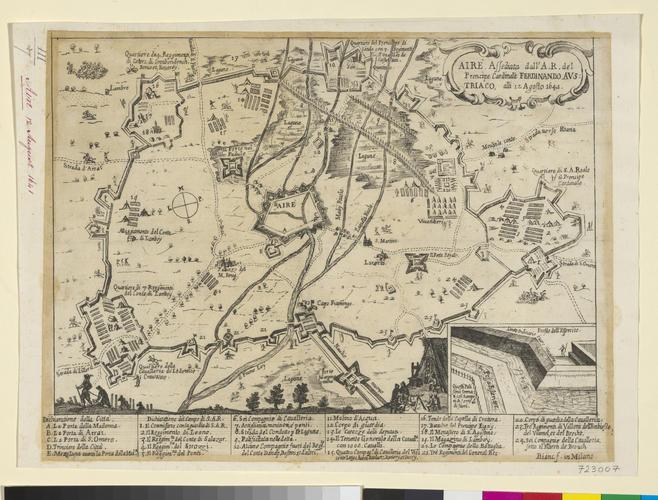 Map of Aire, 1641 (Aire-sur-la-Lys, Nord-Pas-de-Calais, France) 50?38'19