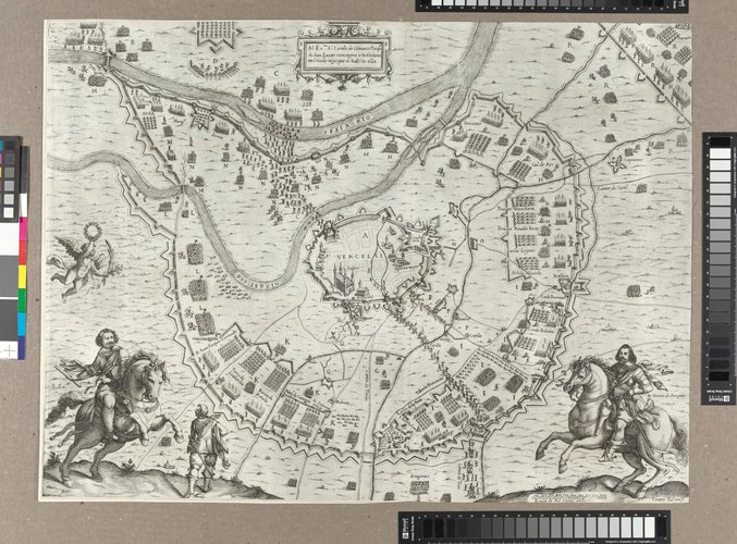 Master: Siege of Vercelli, 1638 (Vercelli, Piedmont, Italy) 45?19?17?N 08?25?11?E Item: Map of the siege of Vercelli, 1638 (Vercelli, Piedmont, Italy) 45?19?17?N 08?25?11?E