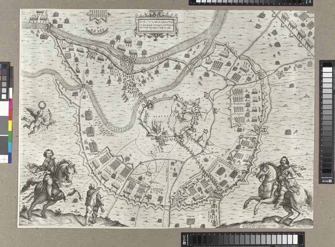 Master: Siege of Vercelli, 1638 (Vercelli, Piedmont, Italy) 45?19?17?N 08?25?11?E Item: Map of the siege of Vercelli, 1638 (Vercelli, Piedmont, Italy) 45?19?17?N 08?25?11?E