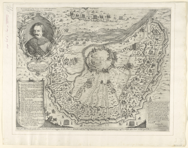 View of the siege of Vercelli, 1638 (Vercelli, Piedmont, Italy) 45?19?17?N 08?25?11?E
