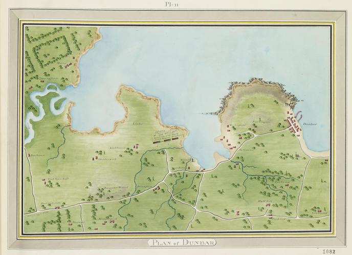 Master: Maps of Scotland, 1795 Item: Map of Dunbar, 1795 (Dunbar, East Lothian, Scotland, UK) 56?00'02