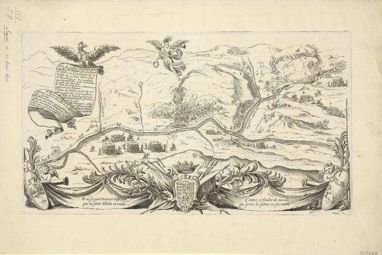 View of the Battle of Sant Llorenc de Montgai, 1645 (Sant Llorenc de Montgai, Catalonia, Spain) 41?52?34?N 00?52?43?E; (River Segre, Catalonia, Spain); (Belaguer, Catalonia, Spain) 41?47?28?N 00?48?39