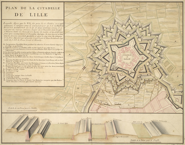 Plan of the siege of Lille, 1708 (Lille, Nord-Pas-de-Calais, France) 50?37'58