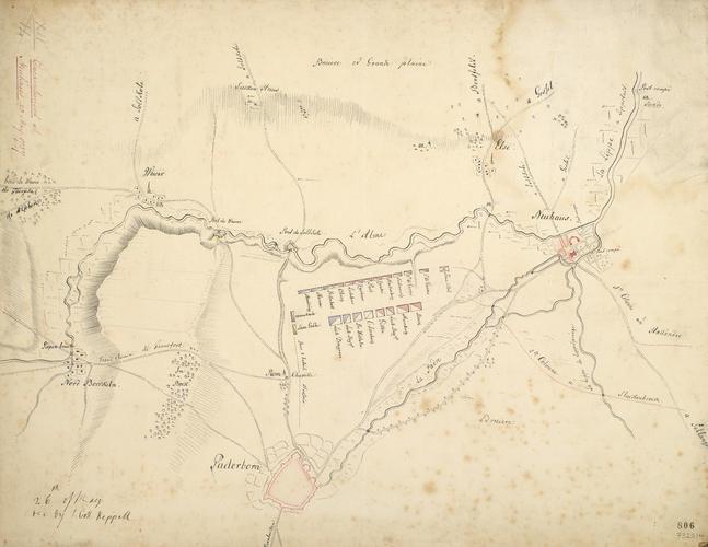 Map of encampment at Neuhaus, 1757 (Schloss Neuhaus, Paderborn, North Rhine-Westphalia, Germany) 51?45'13