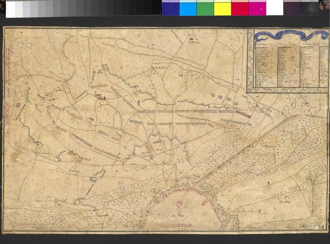 Map of Brussels, 1697 (Brussels, Brussels Capital Region, Belgium) 50?51'01